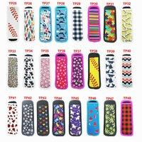 Home Cozinha Neoprene Sorvete Tools Verão Cacto de Verão Girassol Gravata Tie-Dye 48 Color Anticongelante Acessórios