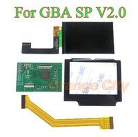 V2.0 IPS ЖК-дисплей Backlit Brighter Ремонт Замена Выделение экрана для игры Boy Advance SP GBA SP AGS 101
