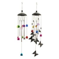 Decorative Objects & Figurines Butterfly Wind Chimes Metal Music Garden Decoration Outdoor Decor Mom Birthday Windchimes Unique Tubes