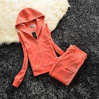 Coutoure Women Velvet Tracksuit Juicy Track Suit Couture Two Piece Pants Sets Plus Size Jackets Pant Suits Fall