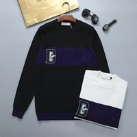Fashion classic designer sweater Men and women high quality casual all-match round neck long sportswear letter famoussweater pullover 2 colors