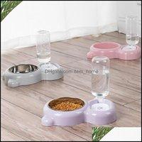 Собака для собак Главная Гардендог Чаши Файдары PET MATIC Питьевая Чаша Большая емкость Питание Пищевые Пищевые блюда Doggy Double Cat Вода D