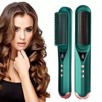 Multifunctional Hair Brushes Straightening Heating Combs Professional Men Beard Styling Electric Hair Straightener Curler