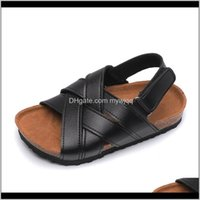 Baby, & Maternity Drop Delivery 2021 Arrivals Kids For Boys Girls Casual Beach Sport Sandals Cross Flat Cork Wood Children Summer Shoes White