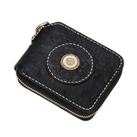 Wallets Short Cow Leather Ostrich Skin Hand-made Purses Women Men Clutch Vegetable Tanned Black Wallet Card Holder1