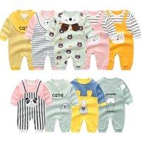 Jumpsuits Born Baby Autumn Rompers Long Sleeved Cute Cartoon Animal Jumsuit Infant Boys Girls Cotton Climbing Clothes Pajamas Set