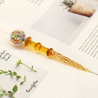 Latest color heat-resistant thick glass pipe glass dodge wax tool dabber for smoking