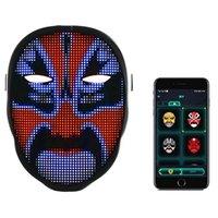 Led Facemask Light Full Color Blue Toth App Controller Face Mask Lamp For Halloween Bar KTV Dancing Festival Party