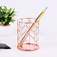 Storage Boxes & Bins Crystal Makeup Organizer Metal Box European Style Eyebrow Pencil Lipstick Holder Brush Cosmetic