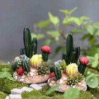 2pcs Mini Totoro Pot Decor Cactus miniatures fairy garden moss terrarium crafts bonsai micro lands chaft resin M06X YE7V
