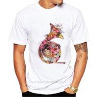 Gelenler Fransız Boynuz Erkekler T Gömlek Çiçek Boynuz Baskılı T-shirt Kısa Kollu Rahat Temel Serin Tee Gömlek Tops 210420