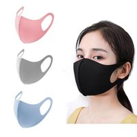 Designer gelo máscara de seda antiderrugem cobertura de rosto pm2 5 respirador impermeável lavável lavável gelo máscaras de algodão de algodão adulto fy9041