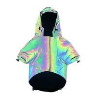 Dog Apparel S-5XL Pet Jacket Fashion Clothes Reflective Dogs Hoodie Soft Windbreaker Flashing Pets Samall Large Outfits