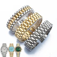 20mm Watch accessories steel male sports waterproof for Rolex luxury series five beads full solid strap women watch band
