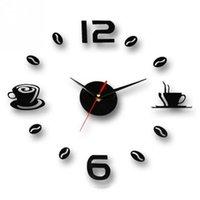 Wall Clocks 2021 Style Clock Modern Design Quartz 3D DIY Coffee Cup Acrylic A Variety Of Scenarios