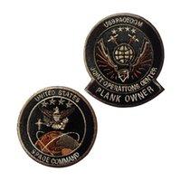 Space Command Вышивка ткань Ткань Крюк и петли Застегивание Тактические пятна армии Военная совместная работа Значки повязки одежды рюкзак наклейки