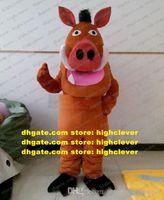 Pumba Pig Mascot Costume Adulto Personaggio del personaggio dei cartoni animati Abito Professionale Speziell Technical Hotel Ristorante ZZ7906