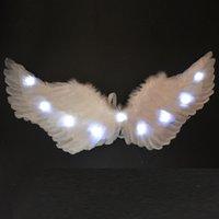 여성 소녀 LED 광선 빛 천사 깃털 날개 요정 날개 소품 생일 결혼식 파티 의상 크리스마스 크리스마스 할로윈