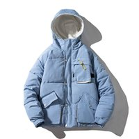 Men's Down Parkas Winter Jacket Warm Padded Parka Men Fashion Hit Color Hooded Coat Mens Streetwear Multi-pocket Male Clothes