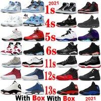 Stealth 1 2021 Баскетбольные туфли Мужчины Джорджтауны быки RED 5 Hyper Royal Unc Roging Low Legend Blue 11 Университет Черные кроссовки с коробкой 1S 4S 5S 6S 11s 12s 13s
