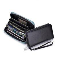 محفظة محفظة RFID حامل البطاقة المعدنية حماية ضئيلة مضادة للسرقة حقيبة محافظ