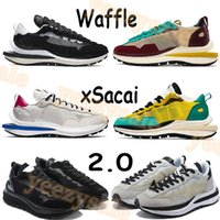 2021 Waffle Xsacai 2.0 실행 신발 스포츠 펀지 게임 로얄 블랙 화이트 경기장 녹색 악당 레드 넵튠 연기 회색 남성 여성 운동화