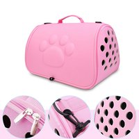 Foldable Pet Dog Carrier Cage Breathable Cat Handbag With Pet Water Bottle Outdoor Pet Transport Tool Travel Puppy Carrying Bags