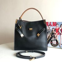 Tb Women's Napa Cowhide Multi Compartment Fashion Briefcase Small Tote Portable Single Shoulder Messenger Bag