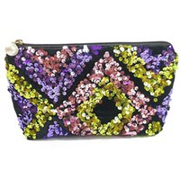 Coin Purse for Women Travel Cases Glitter Shine Cosmetic Pouch Girls Zipper Handbag Carry Case Makeup Organizer Purses