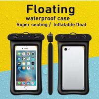 Étuis de téléphone flottant flottant à l'eau pour tous portable iPhone 12 Samsung Huawei Xiaomi Summer Summer Rafting Beach Water Paly Téléphones Sac