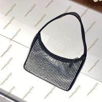 Brand Fashion Luxury Designer hobo Bags Women Waterproof Nylon Handbag High Quality Diamond Shiny Lady newbag999