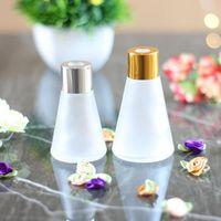 Garrafas de vidro cônico de aromaterapia 30ml 60ml aroma de volatilização óculos recipiente Rattan Red Difusor Frasco de perfume RRD7540