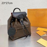 2021 الفاخرة النساء المحافظ حقائب اليد مصممين الأزياء حقائب مدرسية حقيبة طالب الكلاسيكية المطبوعة الزهور مع رسالة TAG L21051301