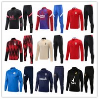 2021 2022 Erkek Futbol Forması Eşofman Kitleri 21 22 Erkekler Eğitim Takım Elbise Futbol Formaları Eşofman Ceket Koşu Setleri Survetement Ayak Chandal Futbol