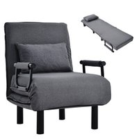 3 In 1 Sofa Bed, Living Room Furniture Convertible Bed-Sleeper Chair Adjustable Backrest 187x 60x 26 CM Foldable Armchair Leisure Chaise Lounge Couch For Home Office