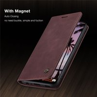 CaseMe 원래 복고풍 마그네틱 카드 Huawei Y7A P 스마트 2021 P40 Lite Nova 6Se 7i Mate 30 Pro