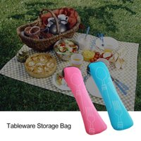 Portable Tableware bag cutlery Dinner Set Travel packaging storage box Dinnerware picnic fork spoon