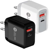Fast Quick Charge QC3.0 18W Dual Ports Wall Charger Eu US AC HOme Travel Power Adapters For Iphone 11 12 13 Pro Max Samsung Lg Android phone PC