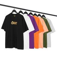 Camiseta Primavera Verão Drew House Versão Alfabeto Smiley Rosto Mangas Curtas