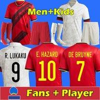 2021 Belçika Futbol Forması Hayranları Oyuncu De Bruyne Tehlike Lukaku Mertens Futbol Gömlek Üst Tayland Kalite Erkekler + Çocuk Kitleri 123