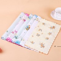 Algodón pañuelo floral bordado mujeres pañuelos flor señora pañuelo mini squárescarf boutique bolsillo toalla fwe6074
