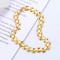 Classic Women Men High End Bracelet Punk Wide Chain Luxury Temperament Gold Party Jewelry Accessories Link,