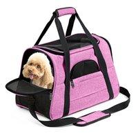 الكلب الناقل حقيبة الظهر الوردي لينة الوجهين كلب القط حقيبة نقل طيران معتمدة الكلاب تحمل حقيبة الظهر للقطط