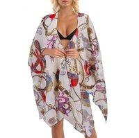 Крышка на пляже на печать бикини женщин кардиган летнее платье женские туники купальники UPS Beachwear Женские купальники