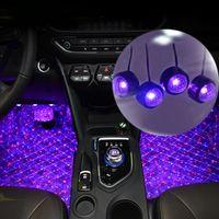 12V Coche LED Interior Pie Lights Atmósfera USB Lámpara Auto Iluminación Retroiluminación RGB Universal Coche Ambiente Luz decorativa