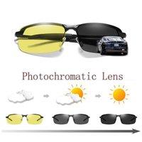Gündüz gece pochromic polarize güneş gözlüğü erkekler için erkek erkek güvenlik sürüş balıkçılık UV400 güneş gözlükleri