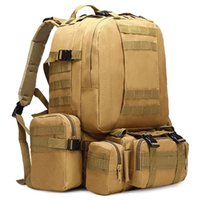 Outdoor Bags 50L Tactical Backpack 4 In 1 Military Army Rucksack Molle Sport Bag Men Camping Hiking Travel Climbing