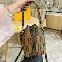 디자이너 브랜드 고품질 미니 버킷 가방 클래식 캔버스 편지 자수 인쇄 여성 핸드백 지갑 어깨 크로스 바디 Drawstring 가방