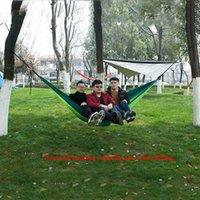 12 Kleur Outdoor Paraplu Doek Hangmat Vouwen Outdoor Camping Anti-Topping Nylon Hangmat met touwhaak voor handig en praktisch