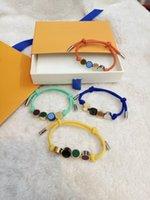 남성과 여성의 패션 팔찌 쥬얼리 4 색상으로 조정 가능